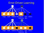 error driven learning102