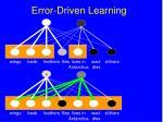 error driven learning103