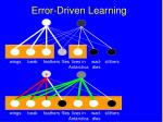 error driven learning104