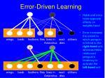 error driven learning105