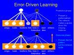 error driven learning96