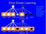 error driven learning98