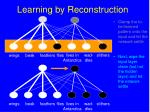 learning by reconstruction149
