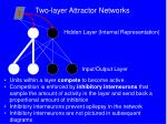 two layer attractor networks16