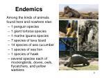 endemics