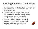 reading grammar connection