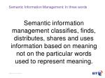 semantic information management in three words