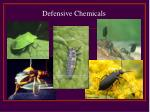 defensive chemicals