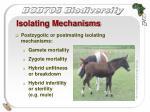 isolating mechanisms20