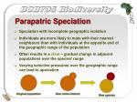 parapatric speciation