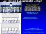 jar testing experimental design