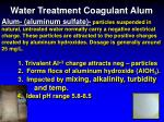 water treatment coagulant alum