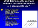 what determines the optimum and most cost effective amount of a coagulant to use