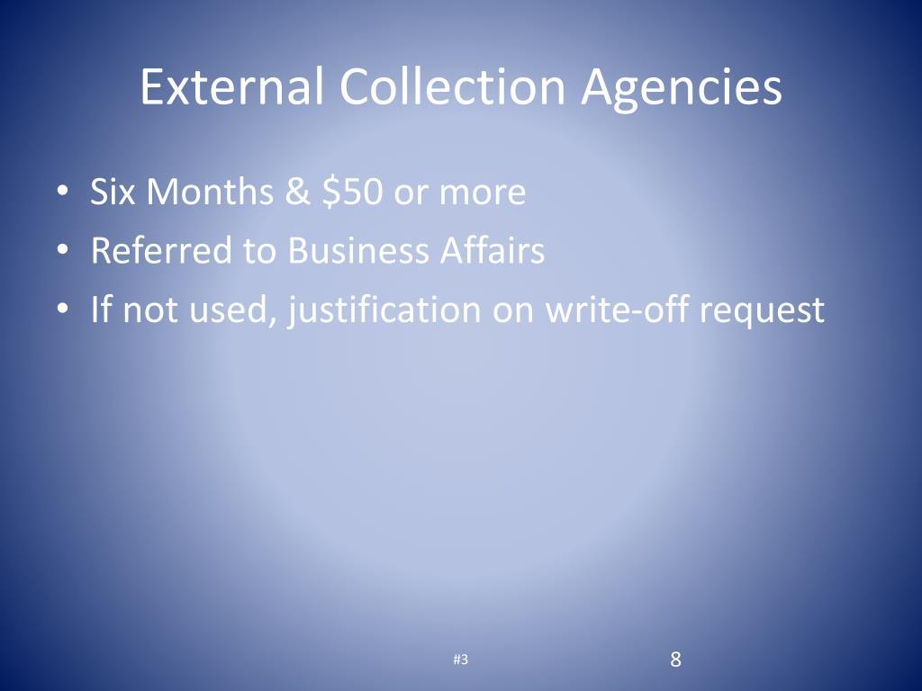 External Collection Agencies