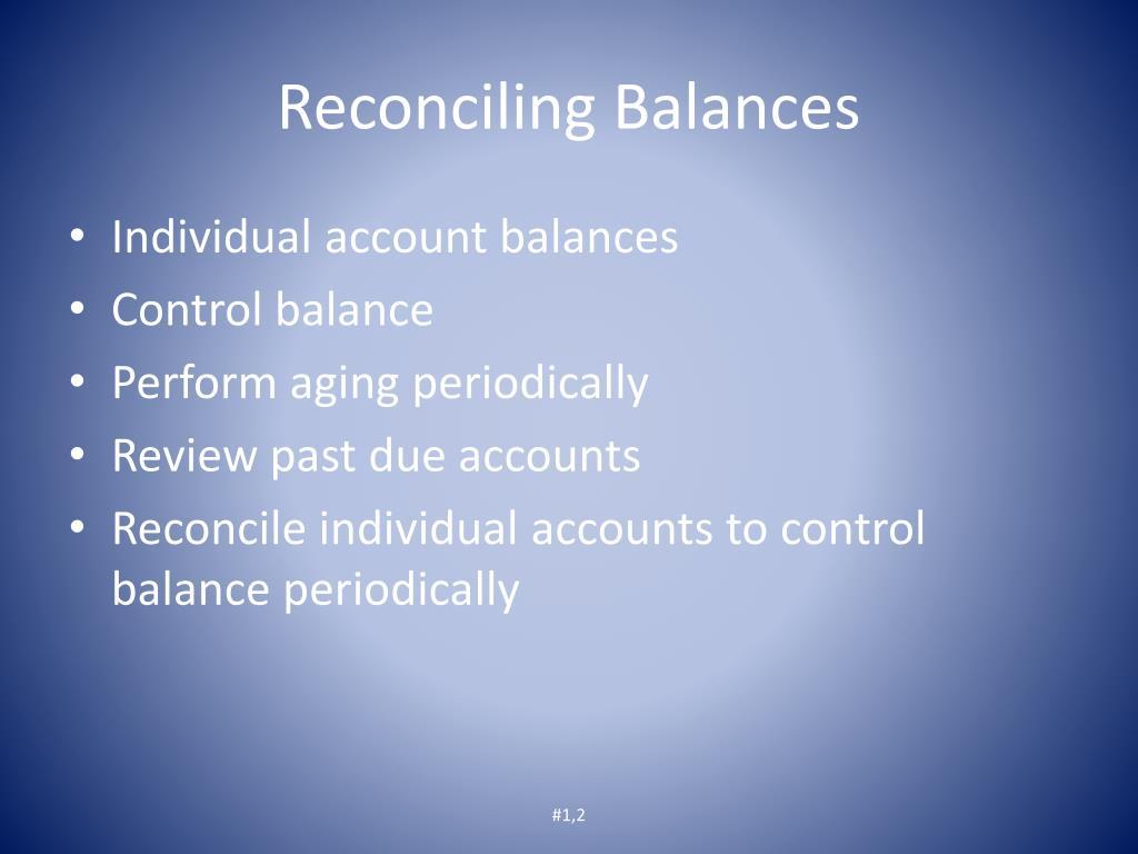 Reconciling Balances
