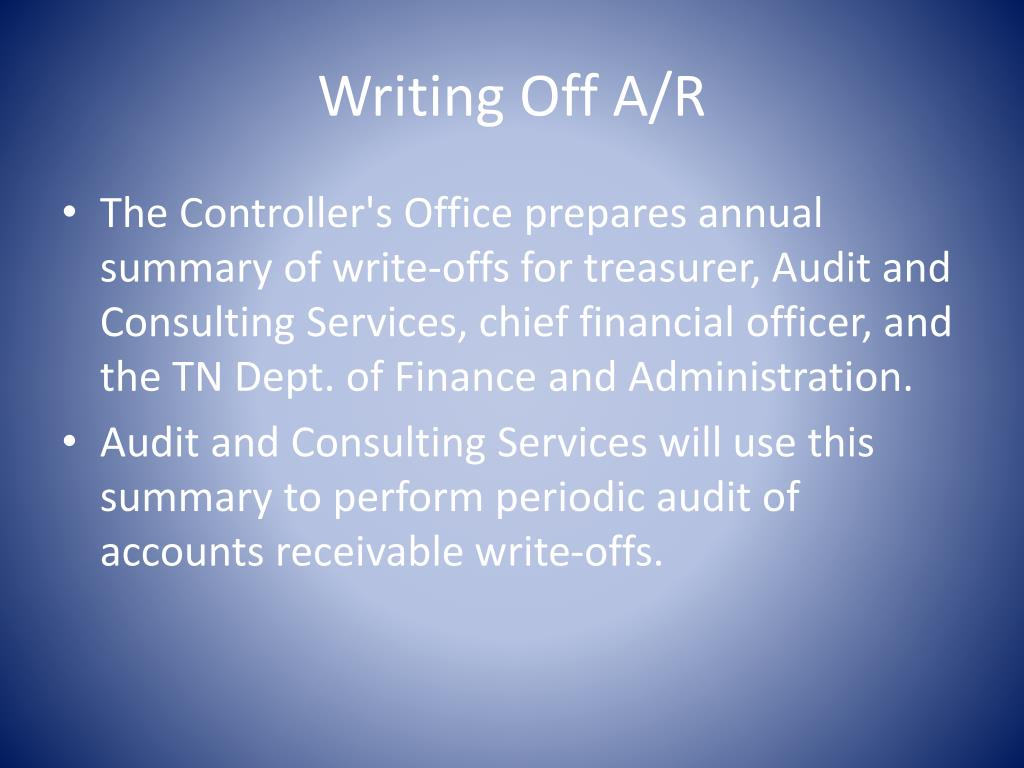 Writing Off A/R