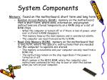 system components11