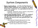 system components12