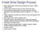 v belt drive design process