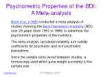 psychometric properties of the bdi a meta analysis