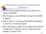 predicting discretionary financing needs continued9