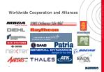 worldwide cooperation and alliances