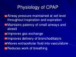 physiology of cpap