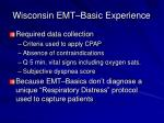 wisconsin emt basic experience17