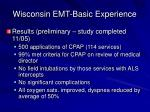 wisconsin emt basic experience20