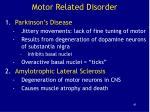 motor related disorder