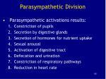 parasympathetic division56