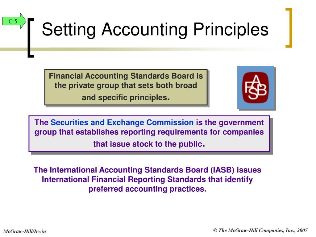 Setting Accounting Principles