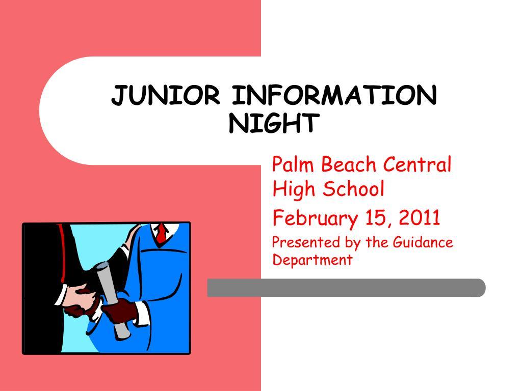 junior information night l.