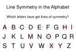 line symmetry in the alphabet