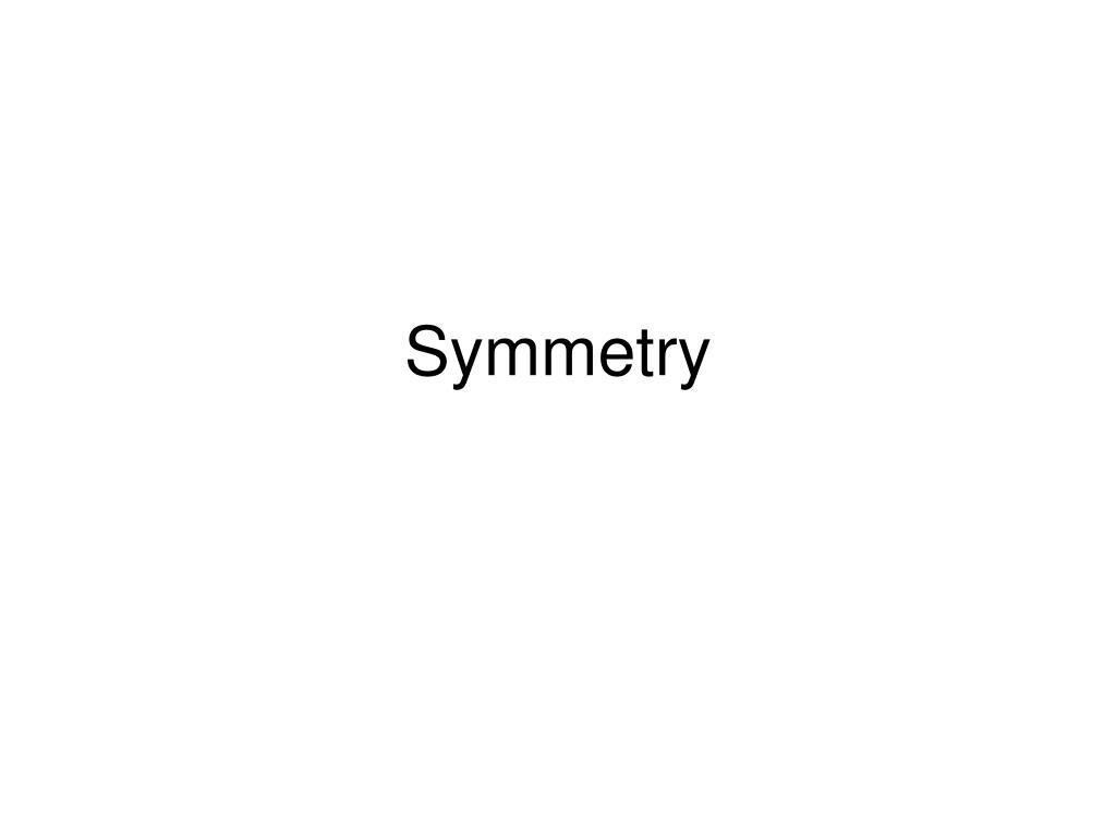 symmetry l.