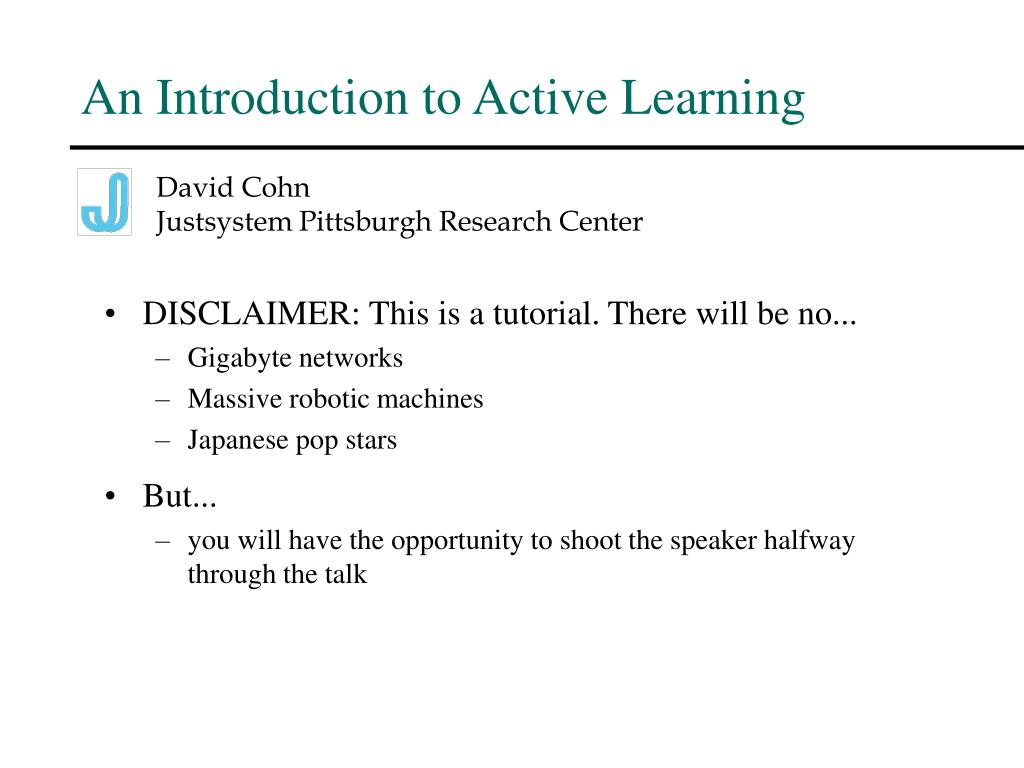 an introduction to active learning l.