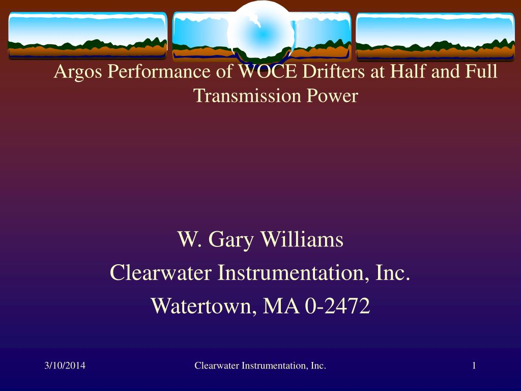 argos performance of woce drifters at half and full transmission power l.