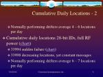 cumulative daily locations 2