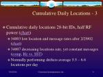 cumulative daily locations 3
