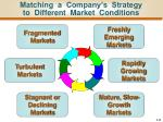 matching a company s strategy to different market conditions