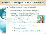pitfalls of mergers and acquisitions