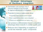 strategic advantages of backward integration