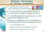 strategic advantages of forward integration