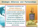 strategic alliances and partnerships