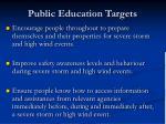public education targets