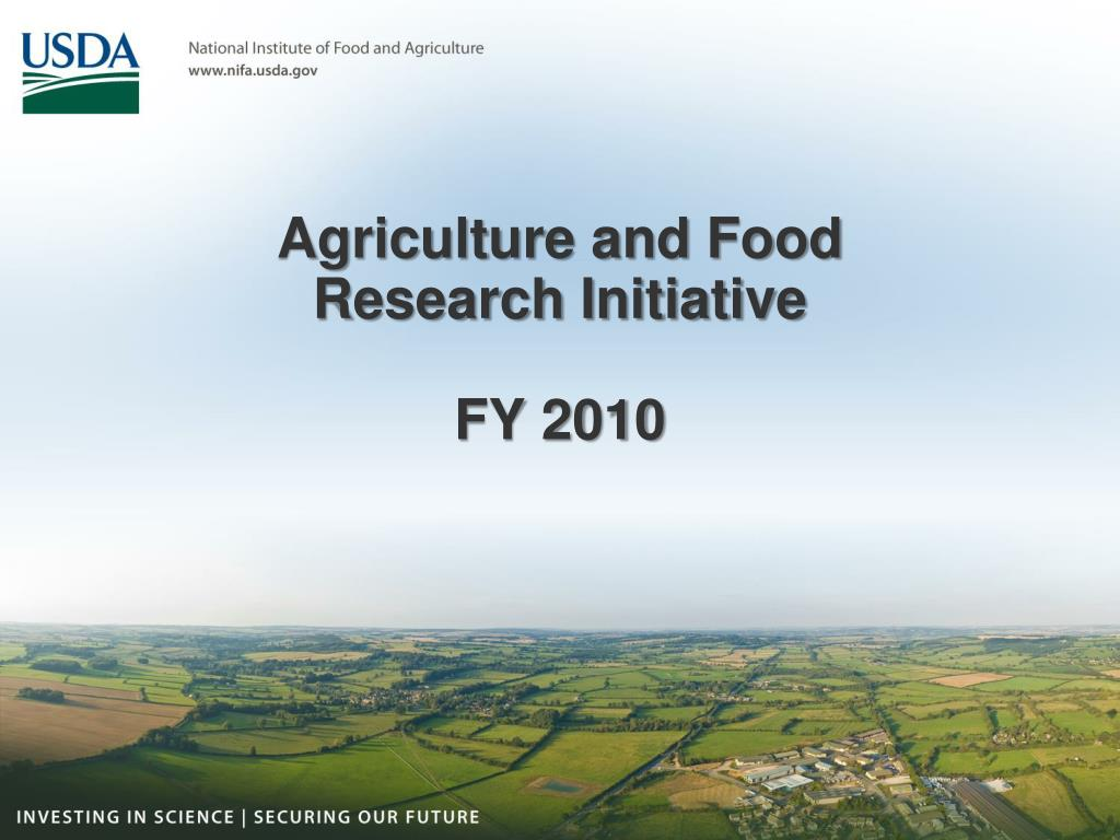 agriculture and food research initiative fy 2010 l.