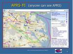 aprs fi anyone can see aprs