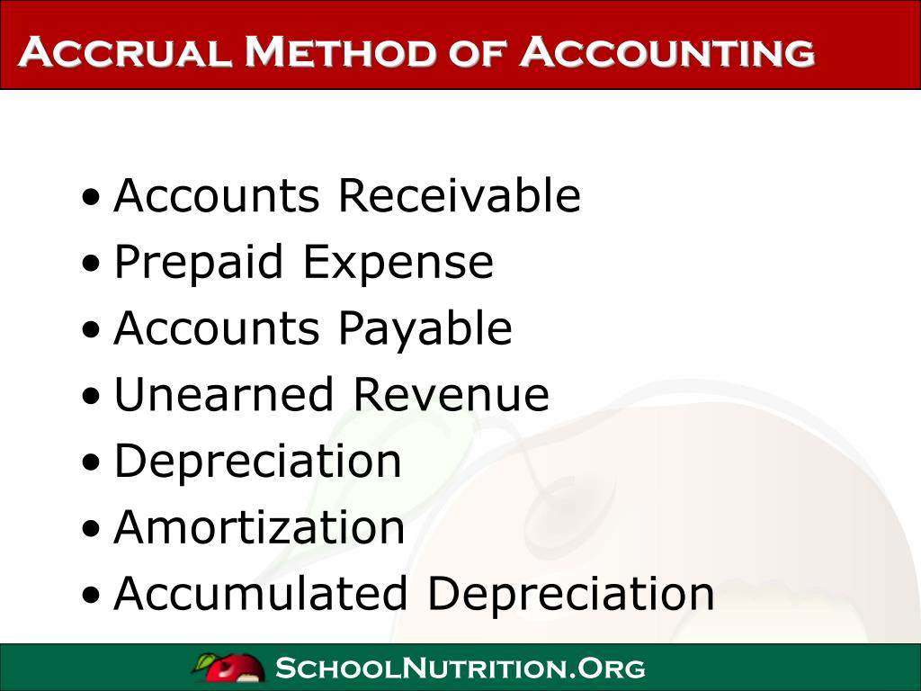 Accrual Method of Accounting