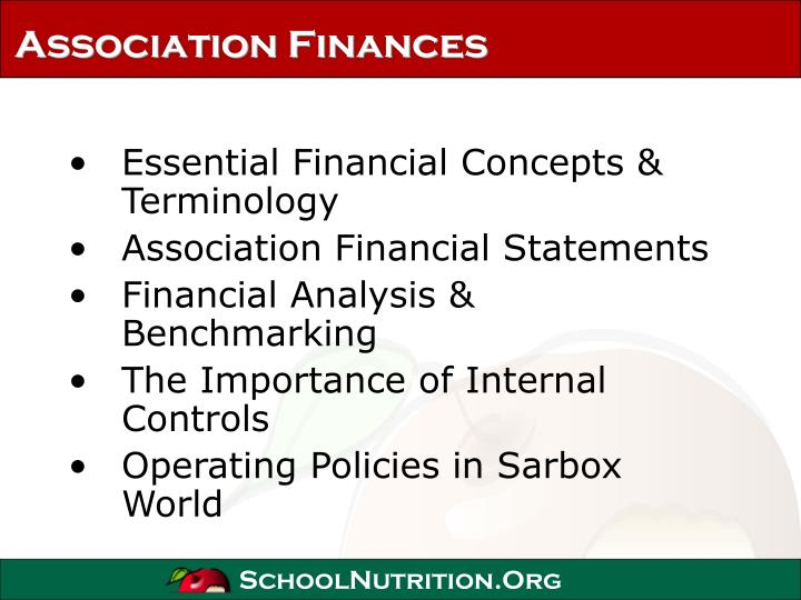 Association finances