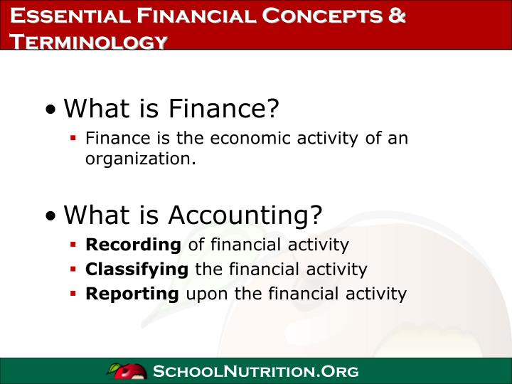 Essential financial concepts terminology